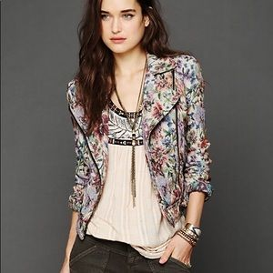 FREE PEOPLE | Floral Tapestry Moto Jacket